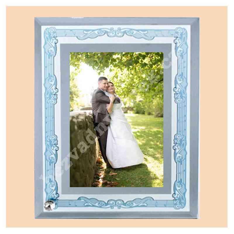 Fotorámek, fotorámeček, 18x23 skleněný s potiskem, s fotografií