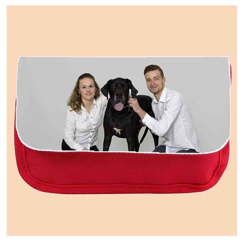 Kosmetická taška červená 22x14 cm, s potiskem, s fotografií