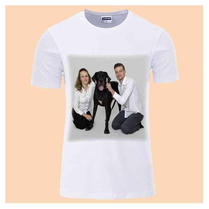 Tričko bílé, dámské,  s vlastní fotkou, či potiskem, vel. S,M,L,XL,XXL