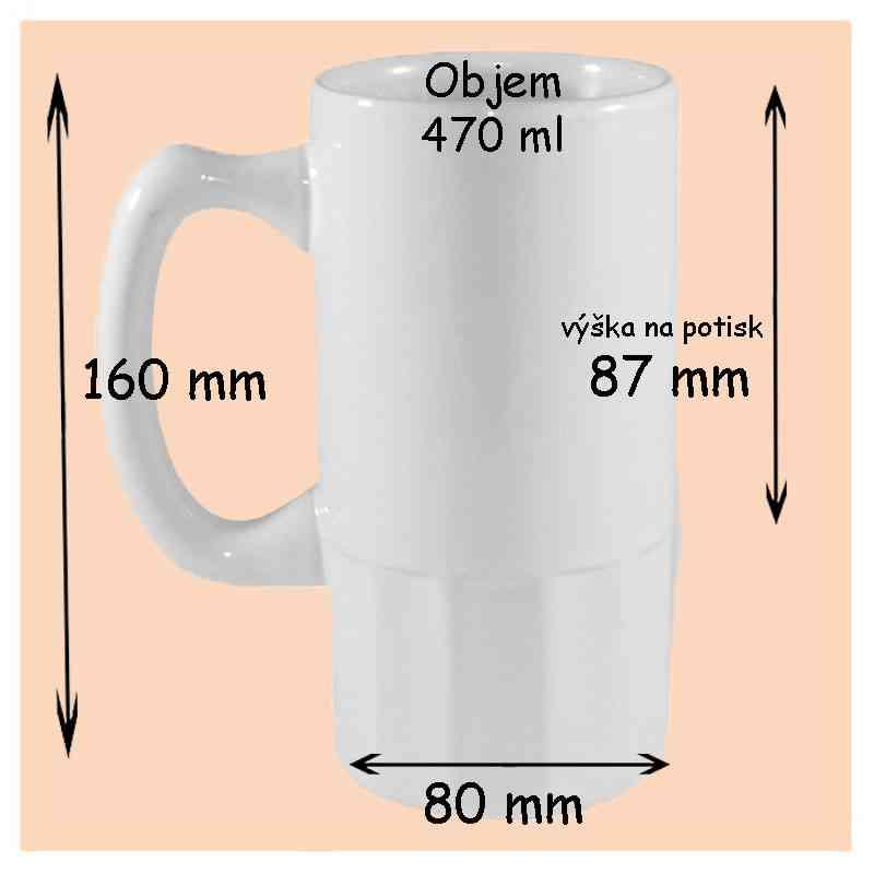 Pokladnička keramická, bílá, s vlastní fotkou, či potiskem, Průměr 80 / výška 90 mm