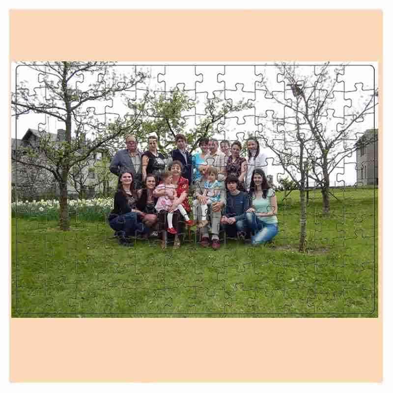 Puzzle  - 110 dílků, 19x24 cm,s potiskem, s fotografií