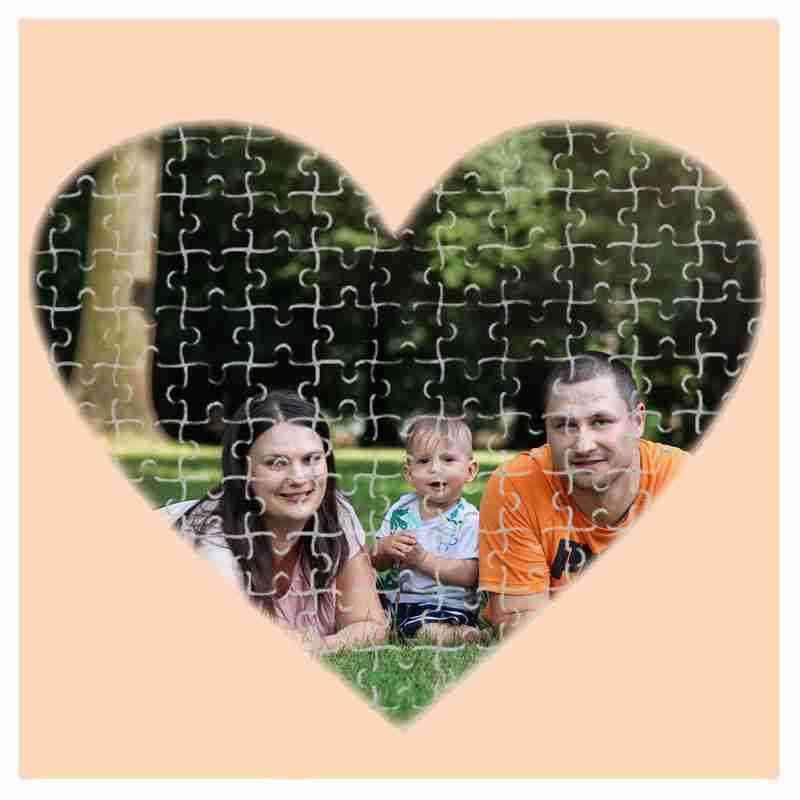 Puzzle srdce - 75 dílků, 19x19 cm, s potiskem, s fotografií