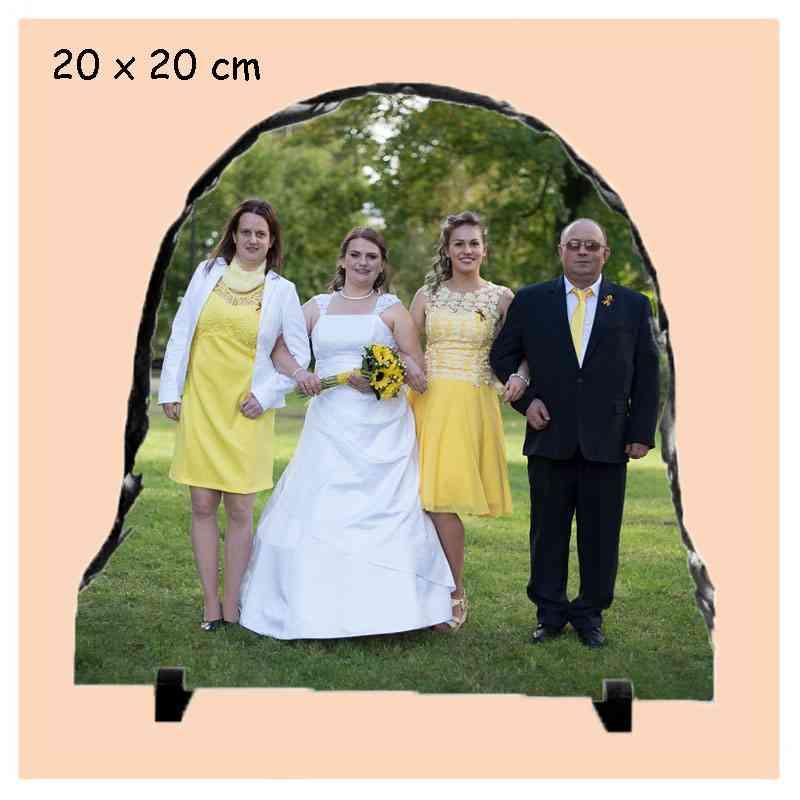 Kámen  20x20cm  půlkulatý břidlicový