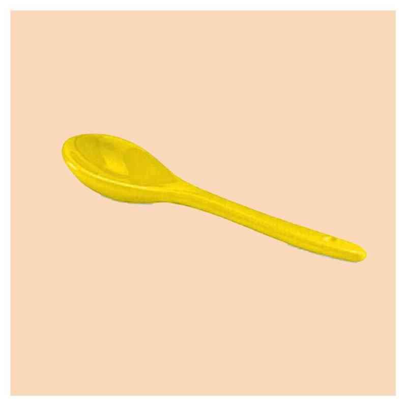 Lžička keramická žlutá