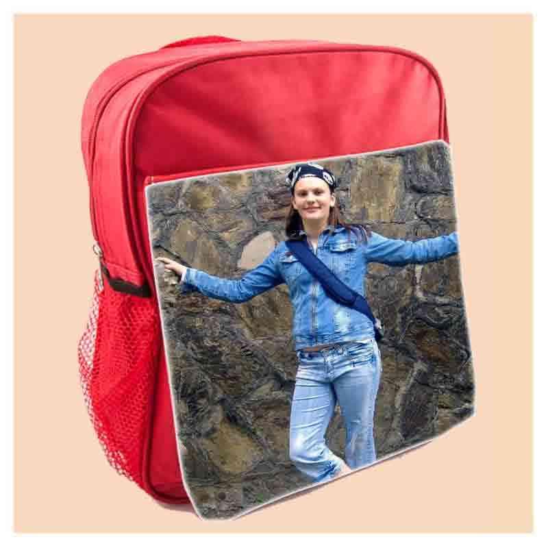 Batoh 30x31 cm školní,  červený, s potiskem
