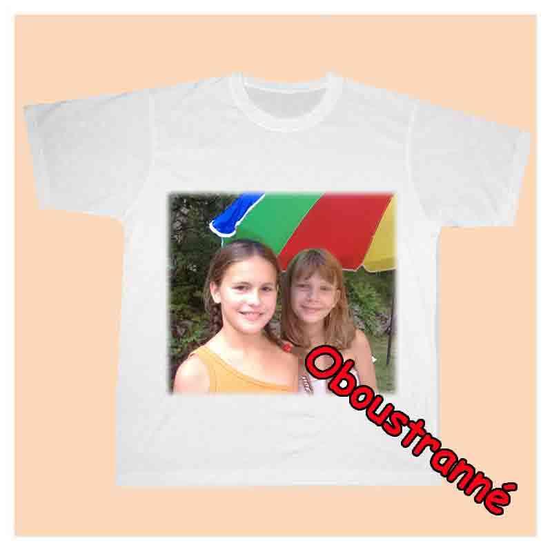 Tričko bílé dětské s vlastní fotkou,oboustranný potisk