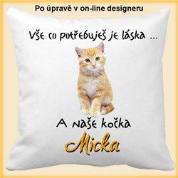 Kočka-polštář