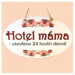"Dekorace na zeď ""Hotel máma"""
